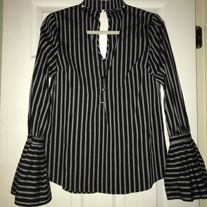 Black and grey stripped shirt